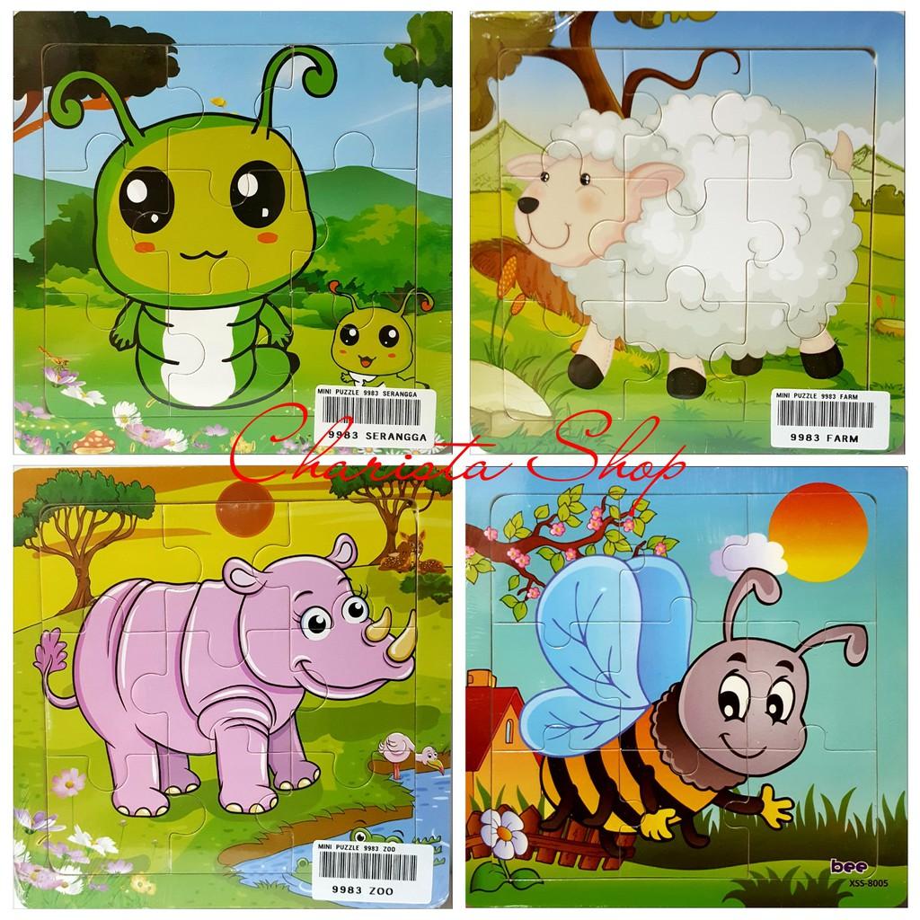 My First Puzzle Buah Dan Sayur Kayu Mini Seri Mainan Stiker Shopee Indonesia