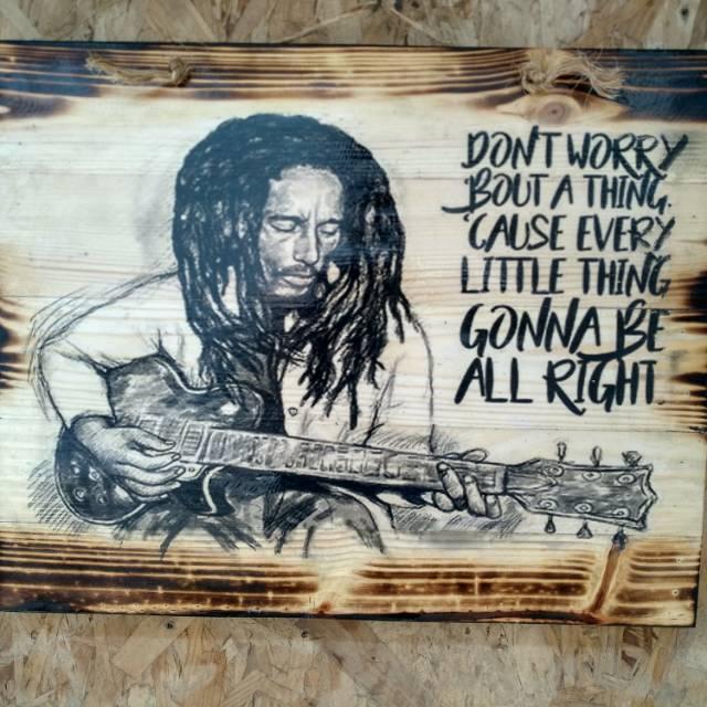 Hiasan Unik Lukisan Kayu Bob Marley Interior Studio Musik Kafe Resto Reagee Hiasan Dinding Musik Shopee Indonesia