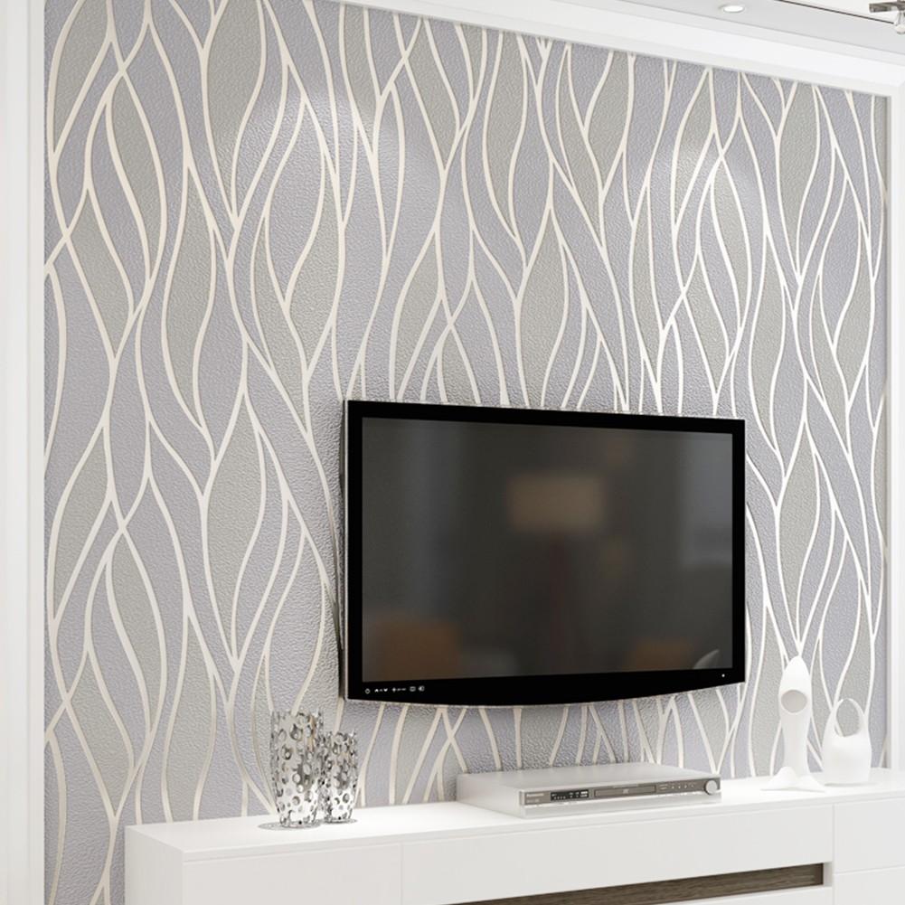 3d Victorian Damask Embossed Textured Wallpaper Deer Pattern