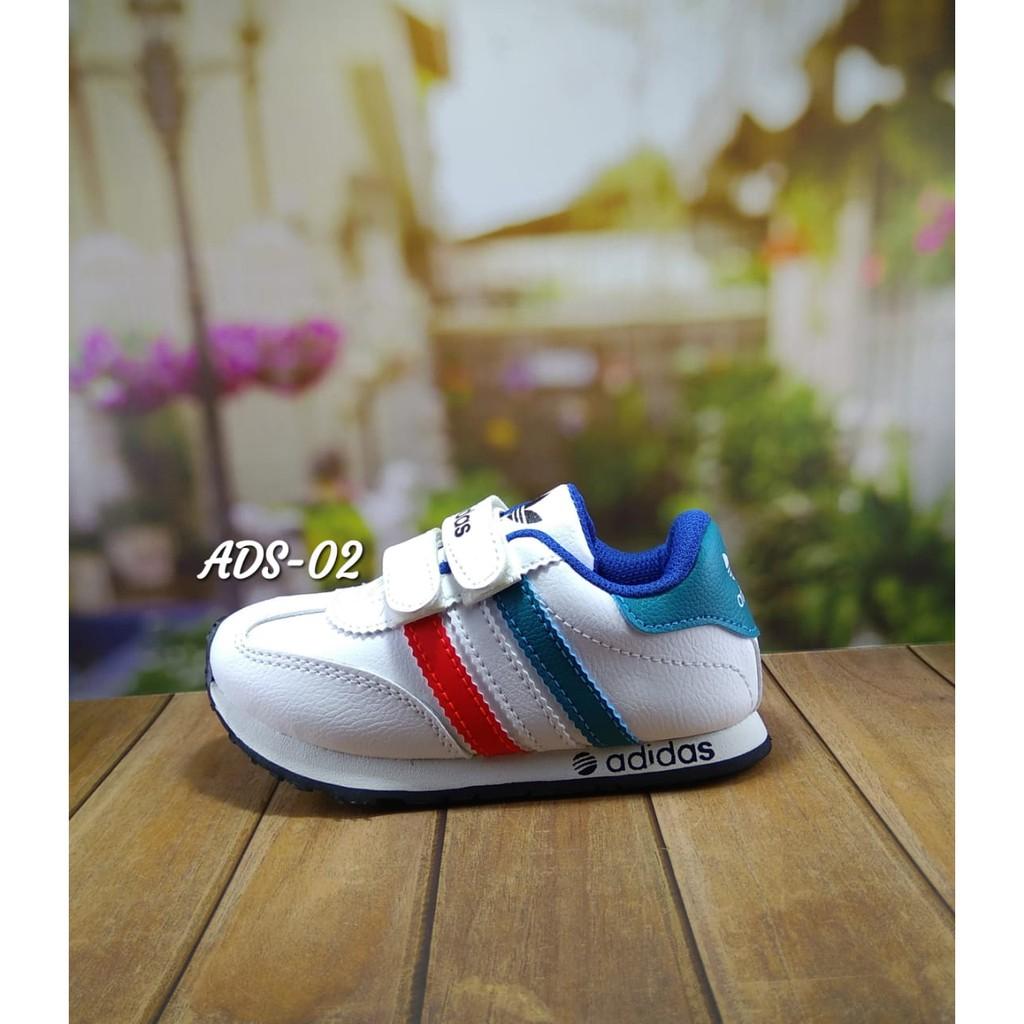 Sepatu Sekolah Anak Murah Biru Navy List Putih Umur 1 2 3 4 5 6 7 Sport  Oren Tahun Shopee Indonesia