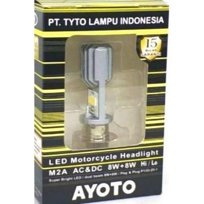 Bohlam Depan Lampu Dop Depan H6 LED  AYOTO M2A AC&DC Kemasan Kuning