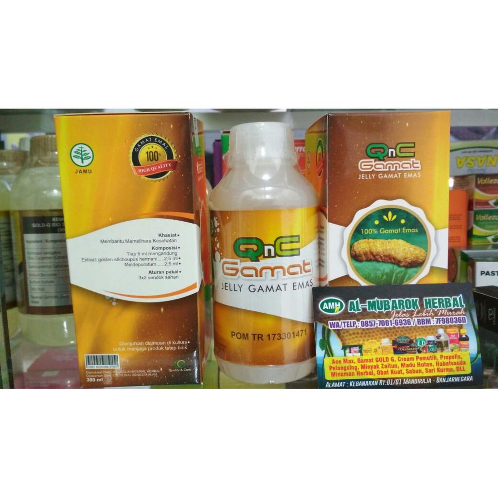 Qnc Gamat Herbal Jelly Shopee Indonesia 300 Ml Dijamin Asli Ter Gold G