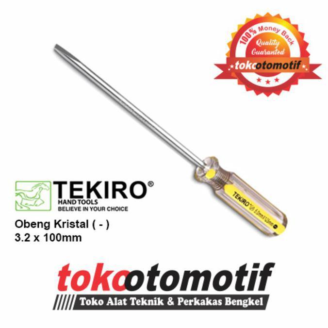 Tekiro Obeng Gagang Kristal (-) 3.2 X 100 mm / Obeng Min | Shopee Indonesia