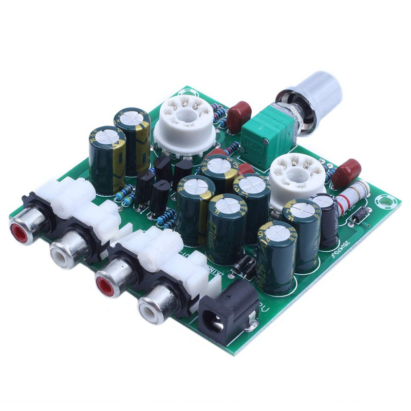 AC12V 6J1 Valve Pre-amp Tube Board Headphone Amplifier+Acrylic Case DIY Kits