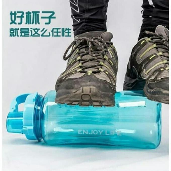 STRAW BOTTLE - Botol Minum JUMBO BESAR - 2 Liter