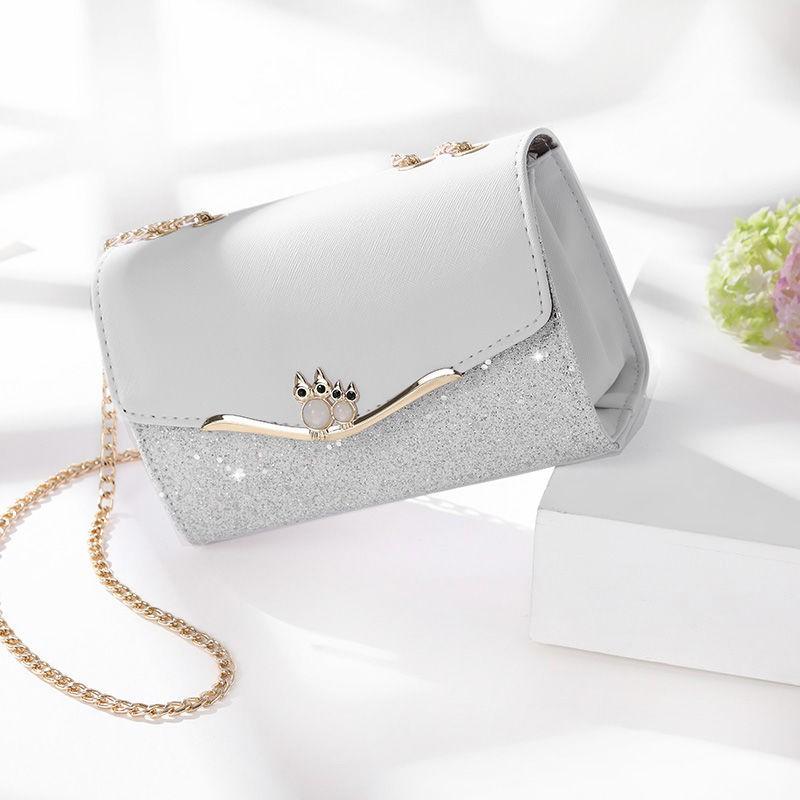 Tas Selempang Mini Wanita dengan Tali Rantai | Shopee ...
