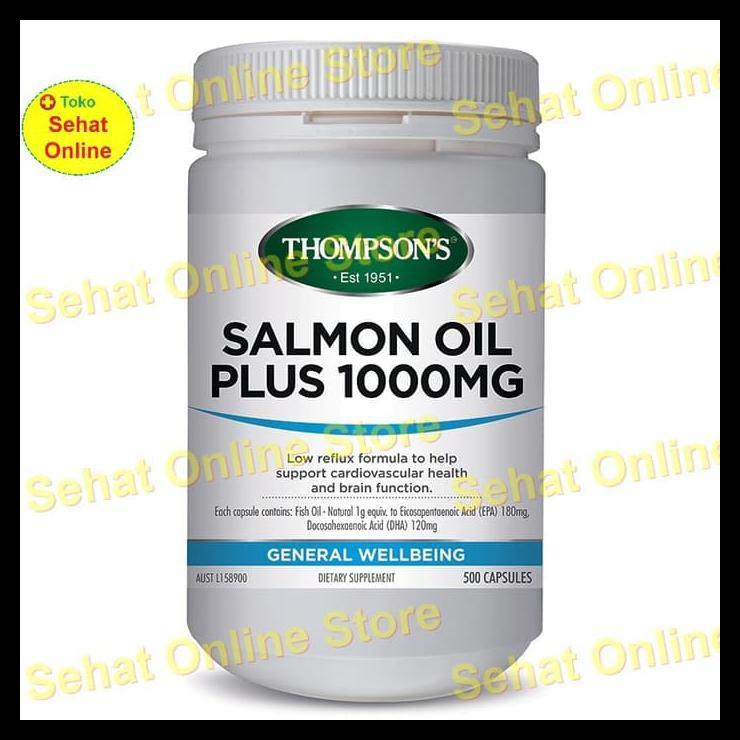 Terbaru Thompson's Salmon Oil Plus 1000mg - 500 Kapsul