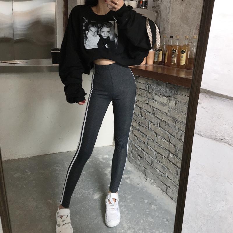 Celana Legging Panjang Wanita Gaya Korea Warna Putih Untuk Olahraga Shopee Indonesia
