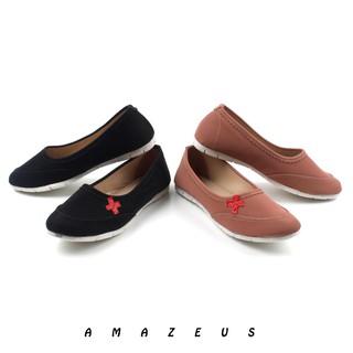 Amazeus - Bevyn Sepatu Flat Shoes Wanita Murah - Hitam Salem  bf5c528abf
