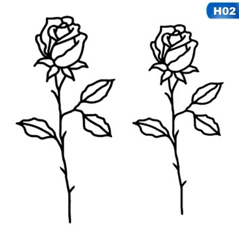 Gambar Bunga Kartun Hitam Putih