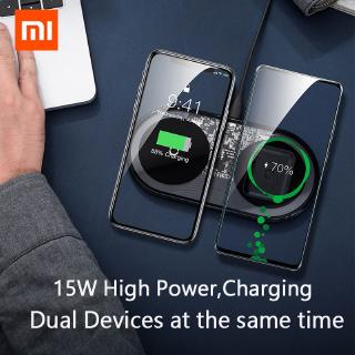 Xiaomi Baseus 2 In 1 15w Dual Wireless Charger For Iphone 11 Pro Max X Xs Xr Samsung Note 10 Plus Shopee Indonesia