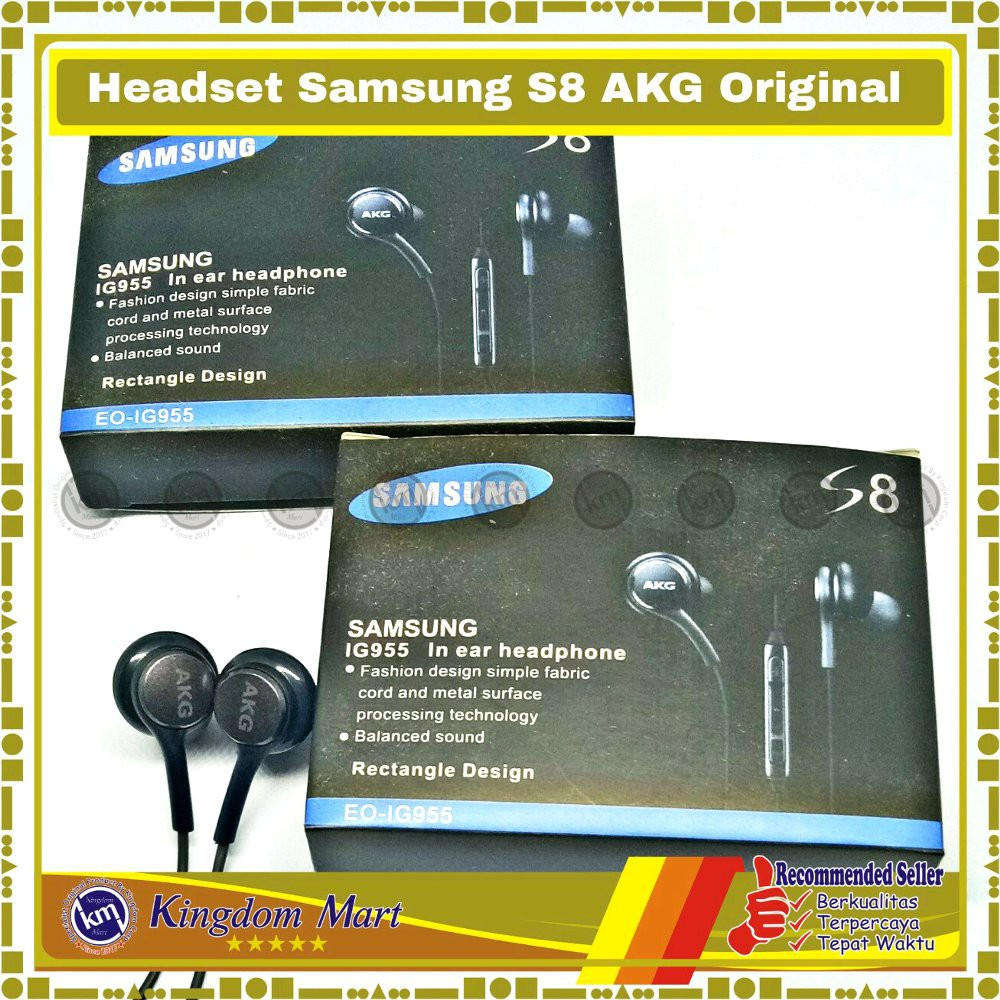 BESTSELLER Kingdom 027 Headset Samsung S8 S8 Plus Tuned By AKG Loose Pack Original 100 | Shopee Indonesia
