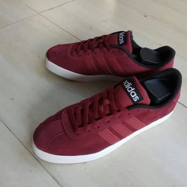 Sepatu Original Adidas VL Court Red Maroon  2e238ed961