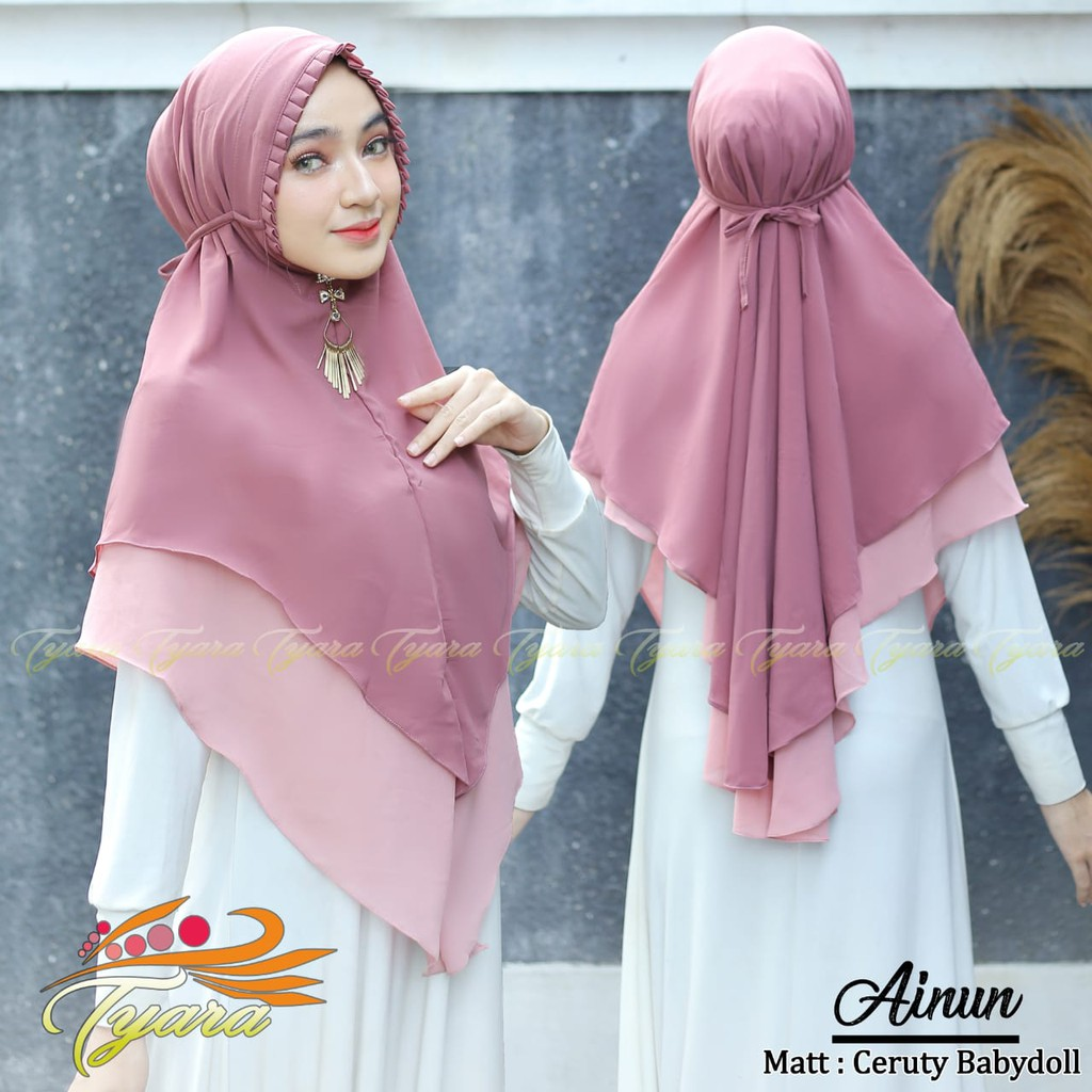 Jilbab Khimar Tali Ainun Ori Tiara Hijab By Qoid Shopee Indonesia