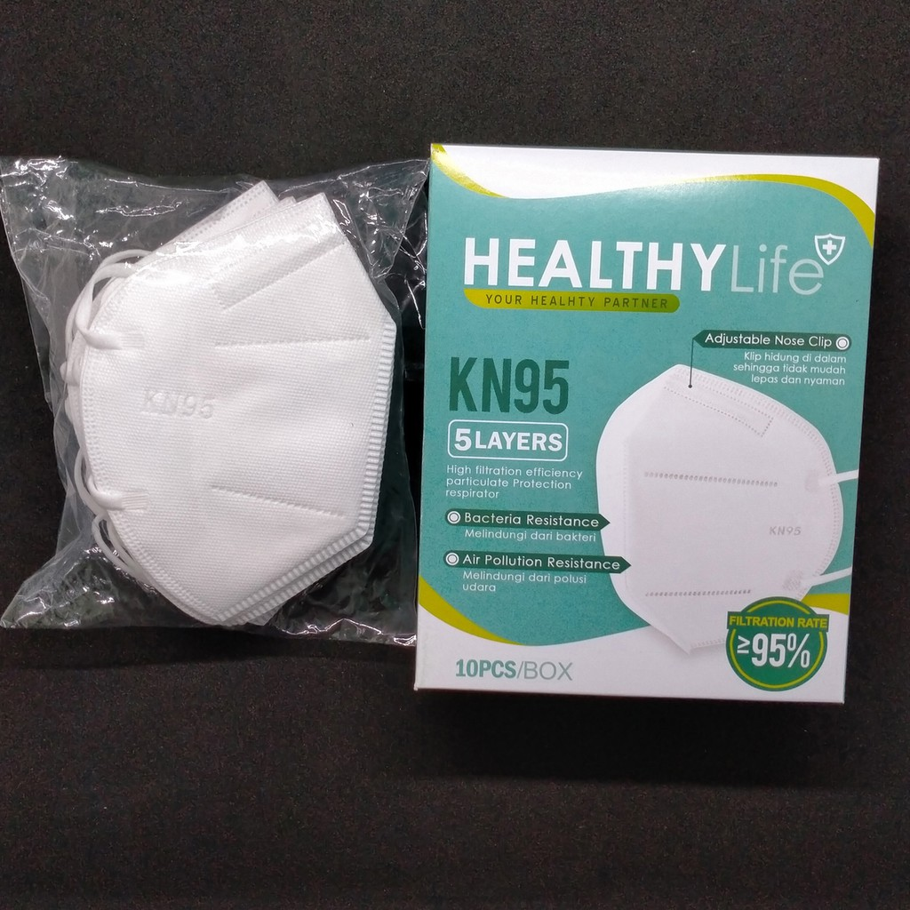 Healthylife Mask Kn95 5ply 10 S Hl Kn9502 Shopee Indonesia
