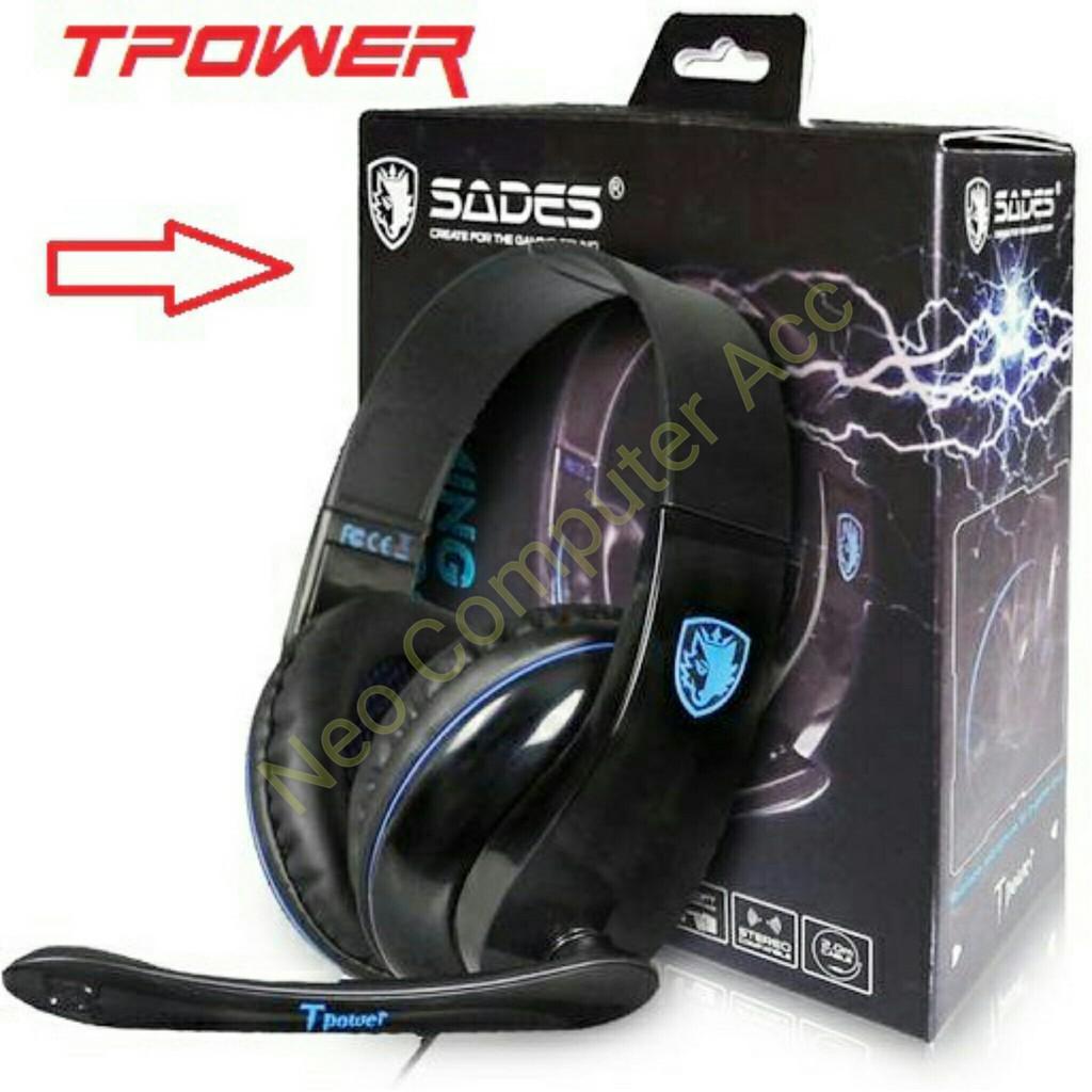 Headset Gaming Sades Tpower Sa701 Shopee Indonesia Sa 701