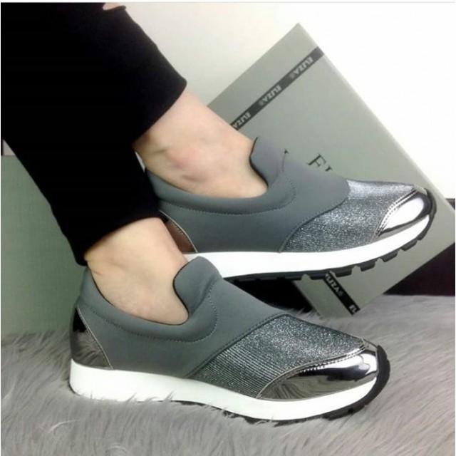 Sepatu Slip On Two Hole Anyam Tetris BS158 BS159 BS160 BS161 BS246 Wanita Slip On Hijau