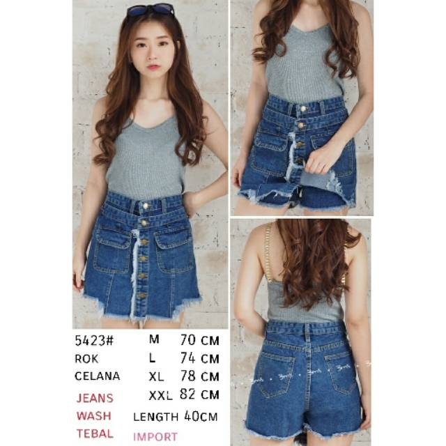 Celana Rok Mini Span Wanita Pocket Import Coklat Source Rok midi . Source . Source ·