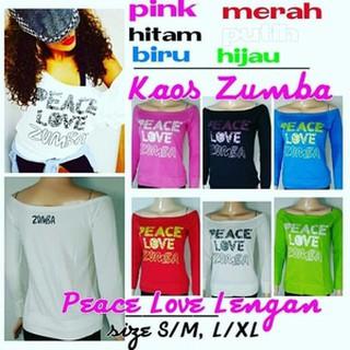 ... Zumba Peace Love Lengan Baju Senam. suka: 0