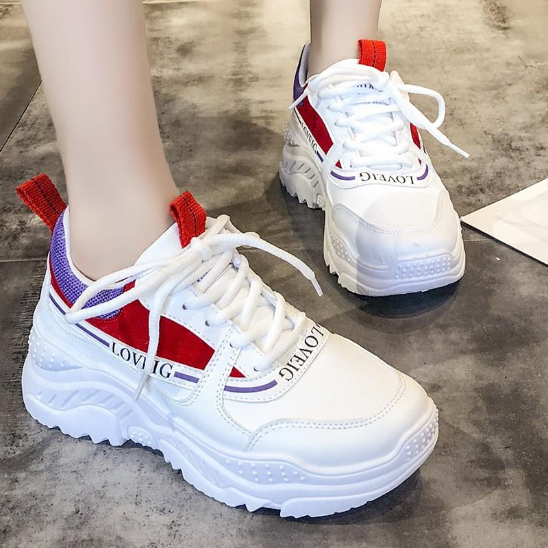 Sepatu Putih Wanita Import Sepatu Sneaker Olahraga Perempuan