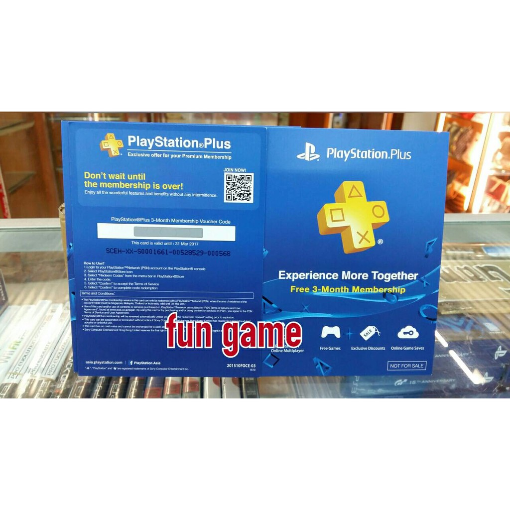Ps4 Playstation Plus 3bulan Reg 3 Shopee Indonesia