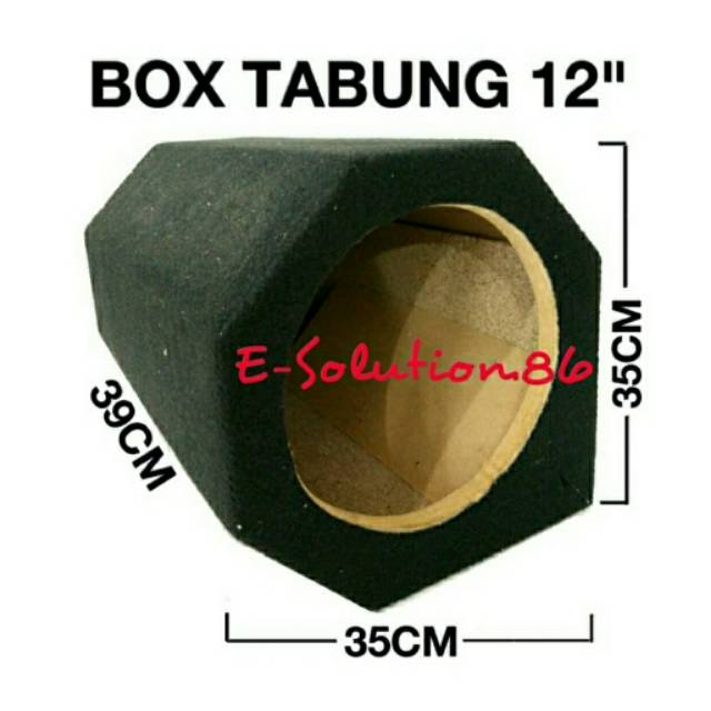 "Box Subwoofer Tabung 12"" Box Speaker 12inch Box Salon Box Panjang Box Bass 12 inch Box Tabung Mobil"