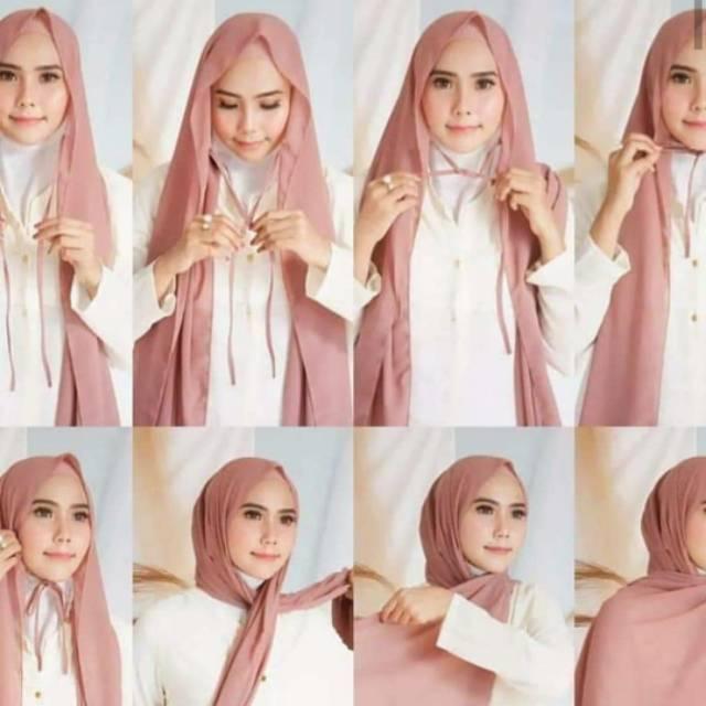 Part 1 Termurah Pasmina Instan Tali Ceruty Babydoll Pashmina Tali Ceruti Baby Doll Shopee Indonesia