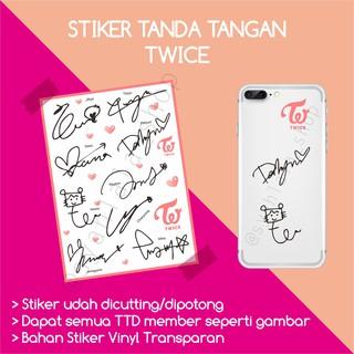 Cod Stiker Kpop Twice More More Tumblr Non Cutting Vynil Glossy Doff Diskon Shopee Indonesia