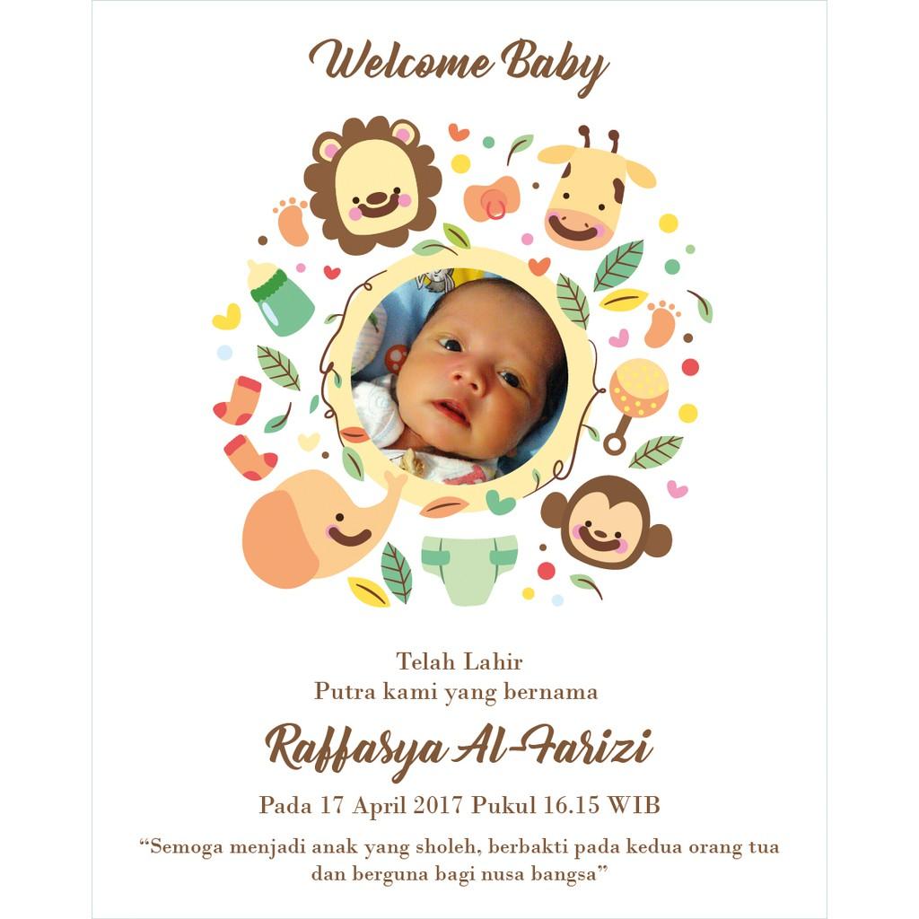 Kartu Ucapan Kelahiran Bayi Kartu Aqiqah Undangan Baby