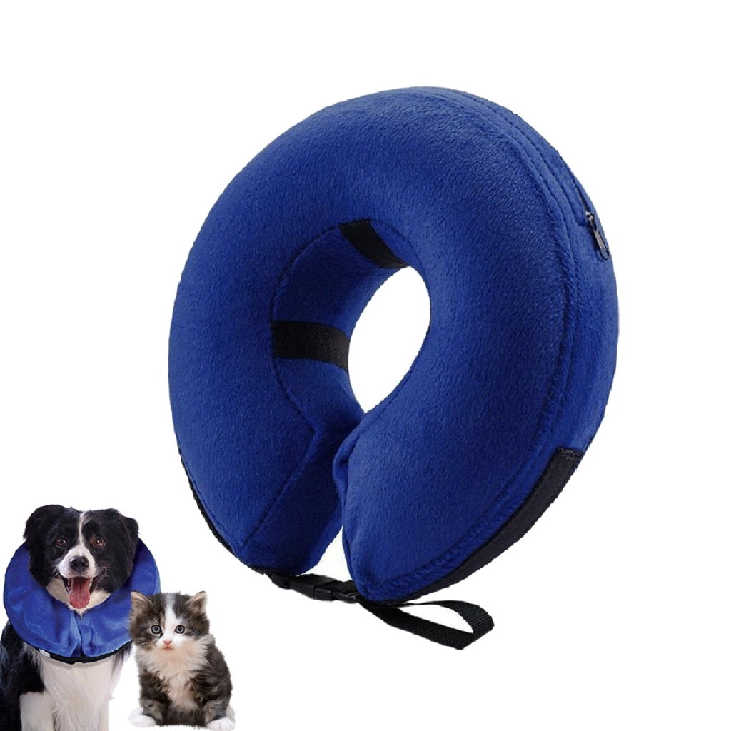 Inflatable Collar For Dogs And Pet Protective Inflatable Cone Soft Pet Recovery E Collar For After Surgery Prevent Pets From Pressing L Shopee Indonesia