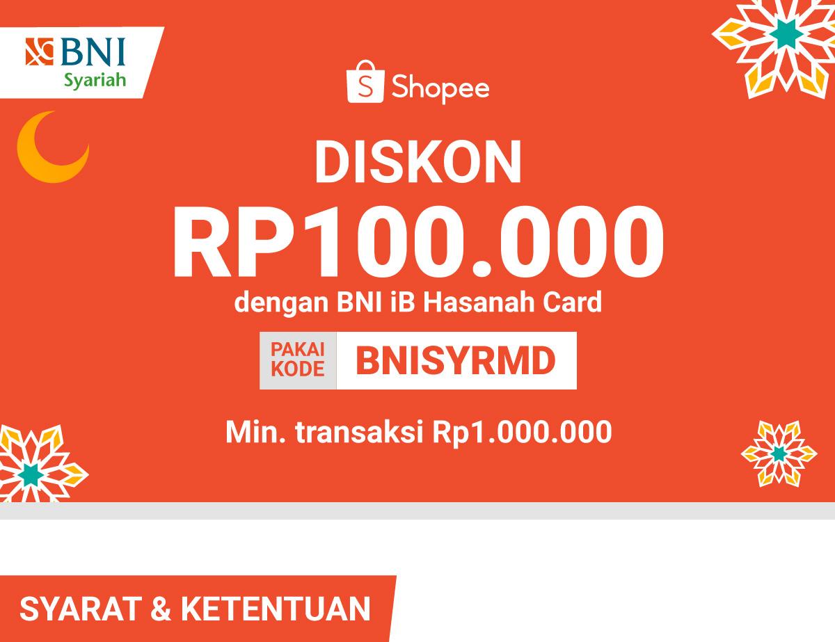 Diskon 100rb Pakai Bni Ib Hasanah Card