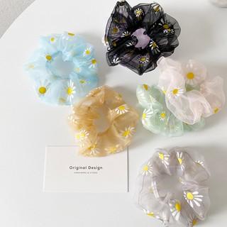 Ikat Rambut Bunga Daisy Gaya INS Korea Segar Kecil Tali Rambut Elastis Untuk Wanita 8