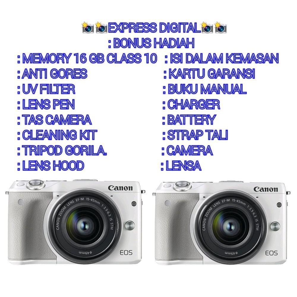 Canon M3 Kamera Temukan Harga Dan Penawaran Online Terbaik Nikon 1 J5 Kit 10 30mm Mirrorless Paket Fotografi November 2018 Shopee Indonesia