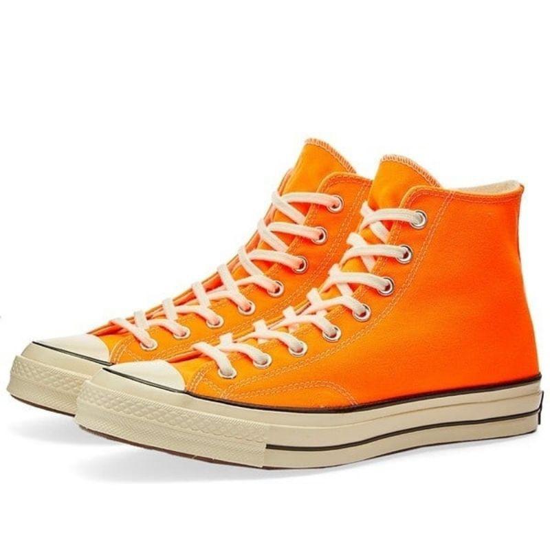 CONVERSE SALE||Sepatu Converse Chuck 70 Hi Total Orange Egret Original 167700C - Orange