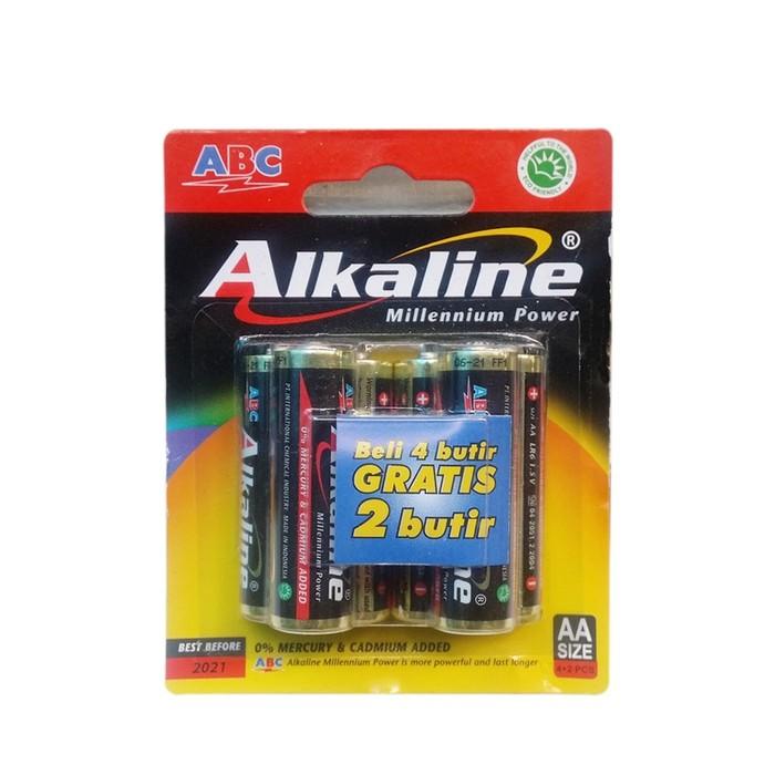 Battery AAA ABC ALKALINE 1.5Volt -1 pack 6 pcs. Baterai asli Original  08dec55a99