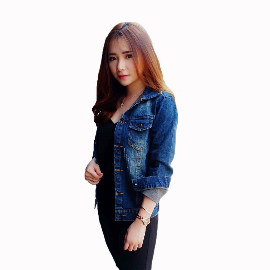 Jaket Denim Jeans Wanita Korea Terbaru - XSHOP Cheryl  4947a8f79c