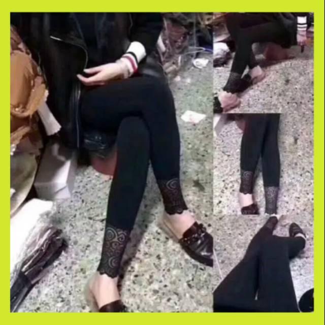 Termurah Legging Renda Grosir Celana Inner Gamis Rayon Super Shopee Indonesia