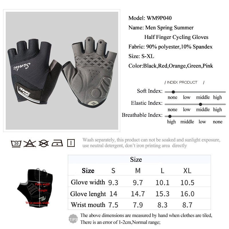 Santic Cycling Women Gloves Bicycle Summer Breathable Half-Finger Gloves Pink