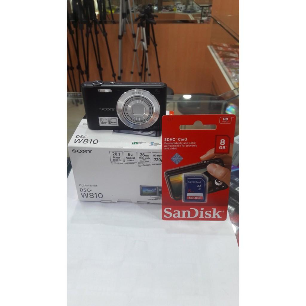 Sony Cyber Shot Dsc W810 Black Trendy Shopee Indonesia H300 201 Mp 35x Optical Zoom Free Sdhc 16gb