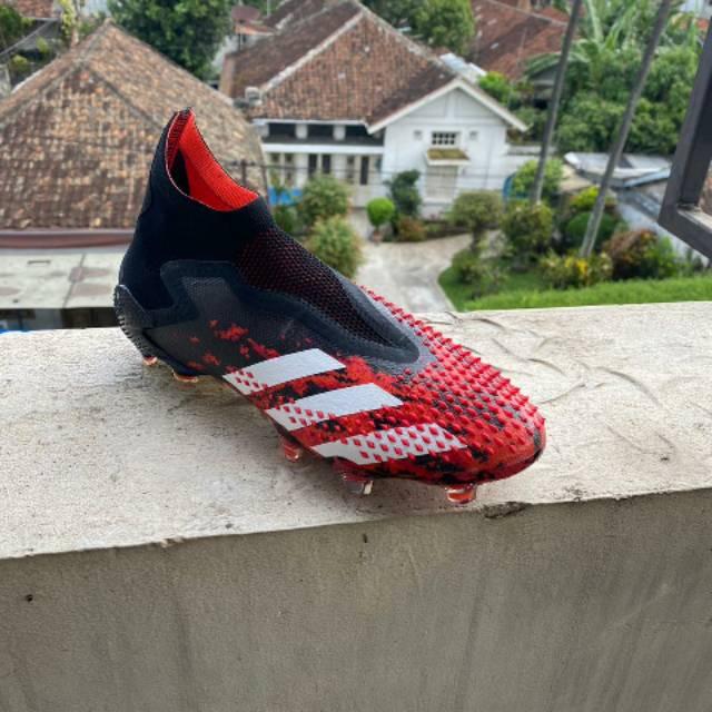 Sepatu Bola Adidas Predator Mutator 20 Red Black Fg Shopee