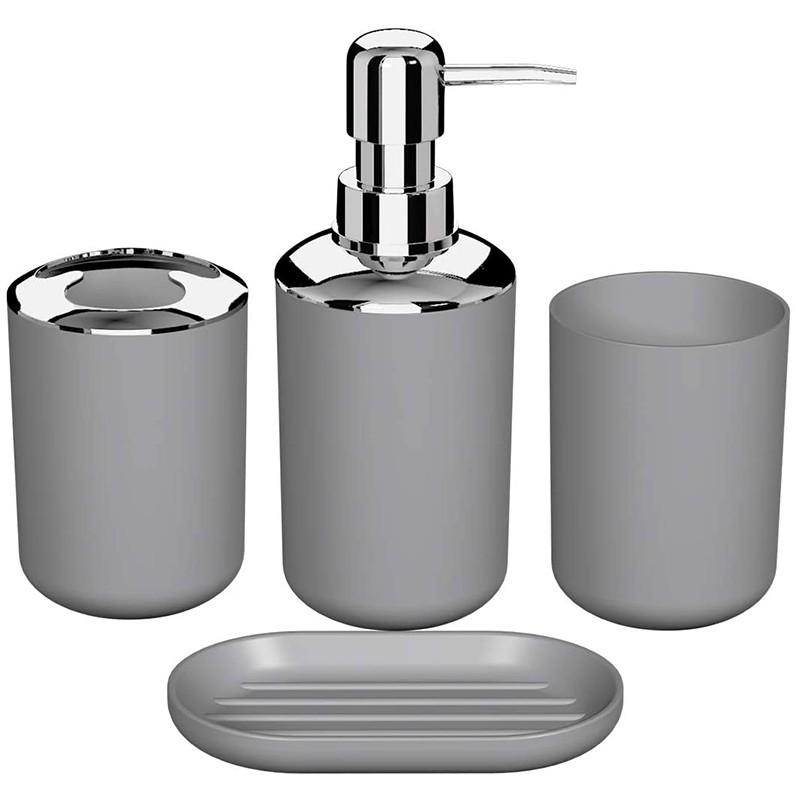 Cottage Bath Set Bathroom Accessories Set Soap Dispenser Toilet Brush Soap Tray