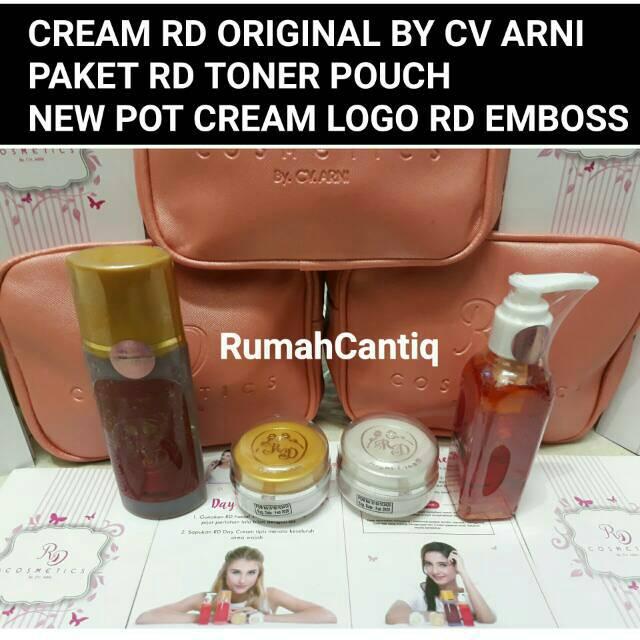 CREAM RD COSMETICS BY CV. ARNI BPOM PAKET TONER - RD POUCH ORIGINAL   Shopee Indonesia