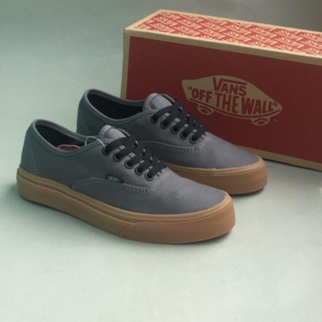 Sepatu Vans Authentic Mono Grey Gum Original PREMIUM Made In China Waffle  ICC IFC Import PREMIUM  e2882bfb8f