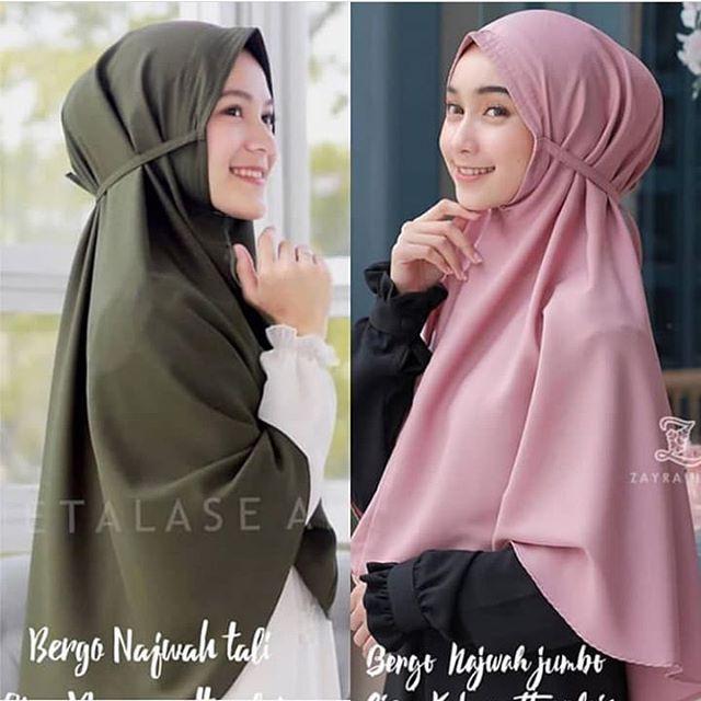 Bergo Maryam Diamond Xl Hijab Instan Ukuran Jumbo Jilbab Cantik Masakini Shopee Indonesia