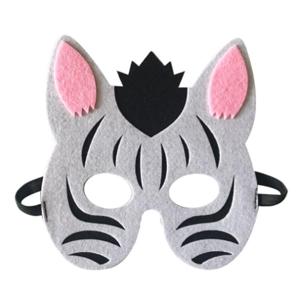 Topeng Setengah Wajah Motif Binatang Kartun Untuk Kostum Pesta