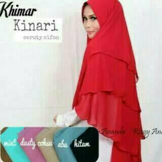 Jilbab Instan | Fashion Muslim | Hijab syari | Kerudung | Khimar | Khimar Kinari 3Layer