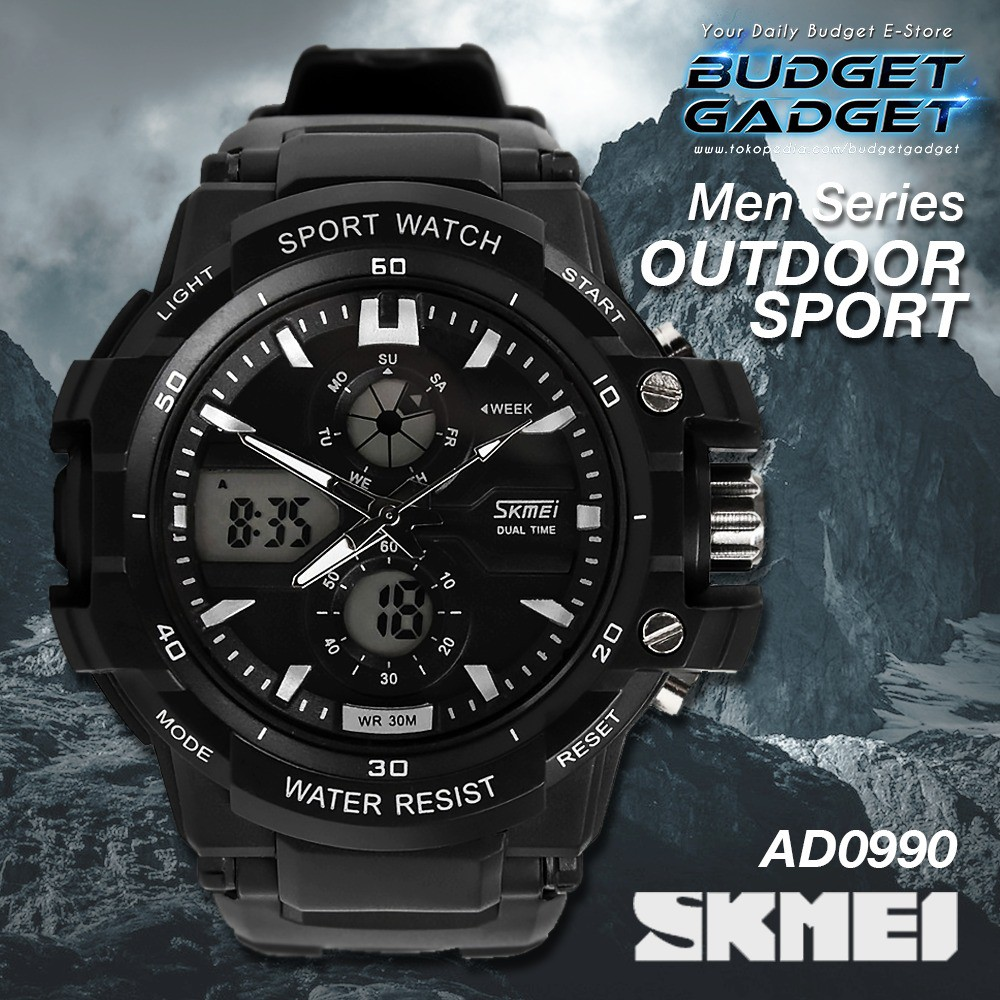 Skmei S Shock Militer Sport Watch Water Resistant 50m Dg1115 Black Dg1025 Titanium Shopee Indonesia