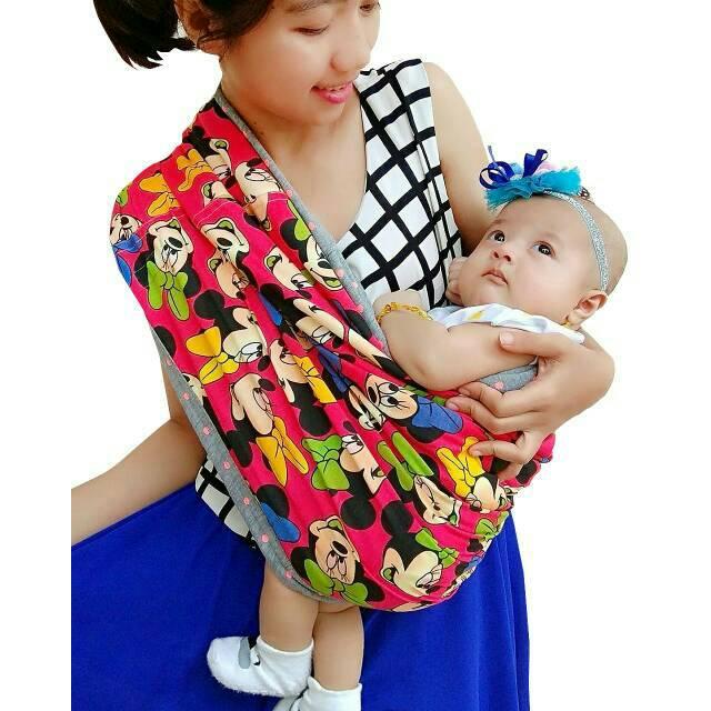Premium 100 Babyterry Baby Leon Gendongan Kaos Bayi Geos By 46