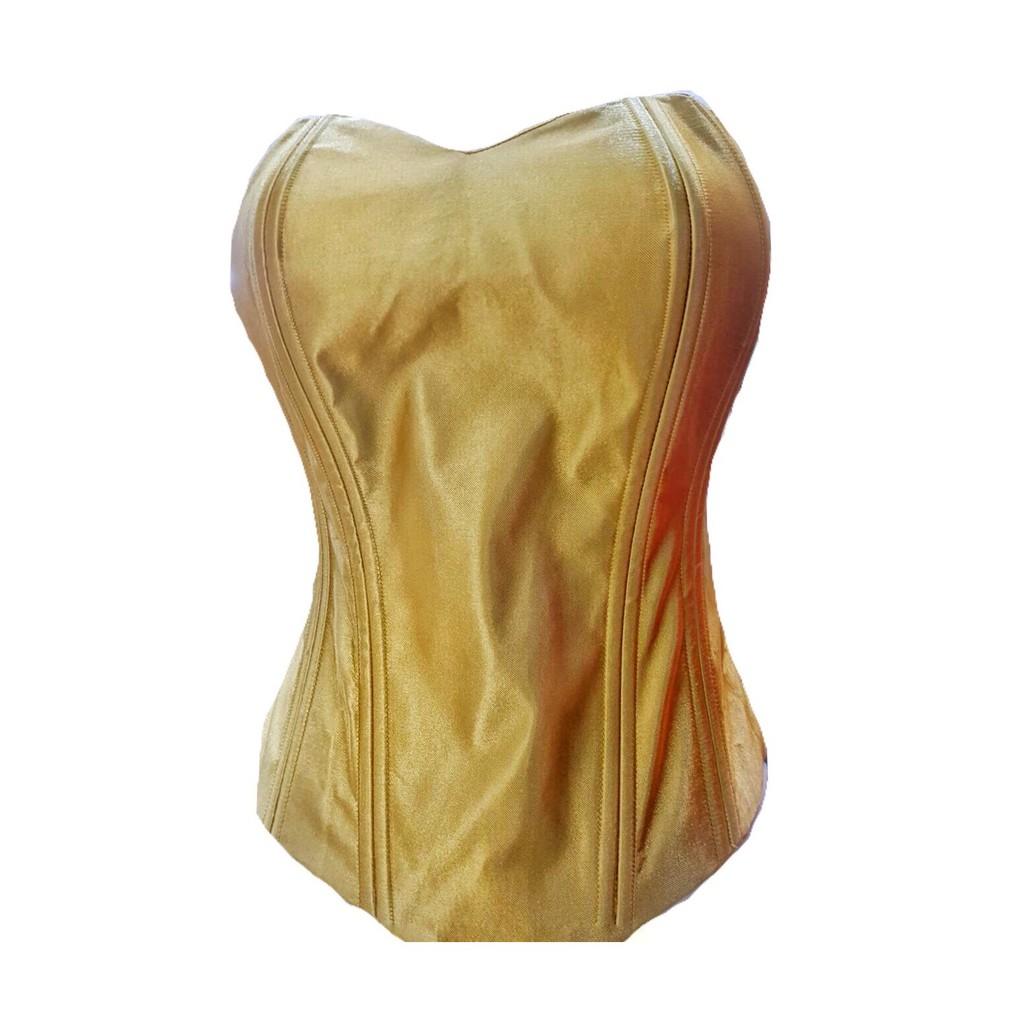 KD Fashion Daleman Bustier Longtorso Satin 8 Tulang dengan Tali Ikat Warna  Gold - Ukuran S - 2L  3a6683f002