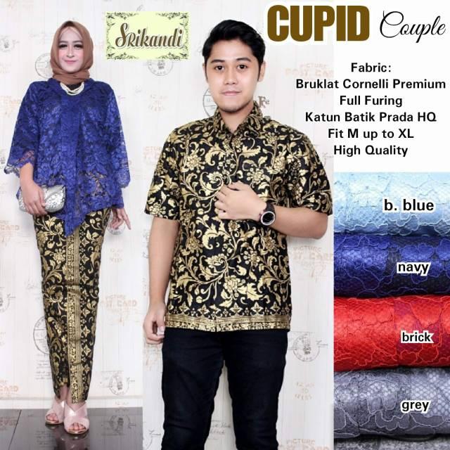 Set Batik Sarimbit Baju Kebaya Brokat Cupid Couple By Srikandi